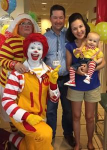 Rehberg family with Ronald & Nurse BandiAid