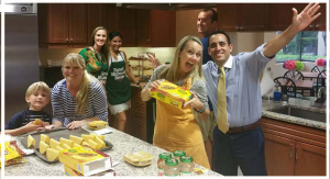 Northwestern Mutual grouop preparing meal for Tampa RMH families
