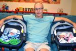 Pascal Chartier with his new babies