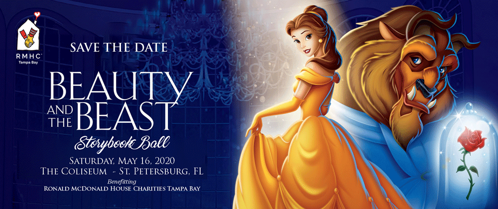 Beauty and the Beast Save the Date - Saturday, May 16, 2020